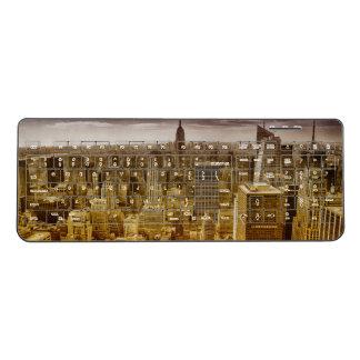 New york , empire state building , manhattan wireless keyboard