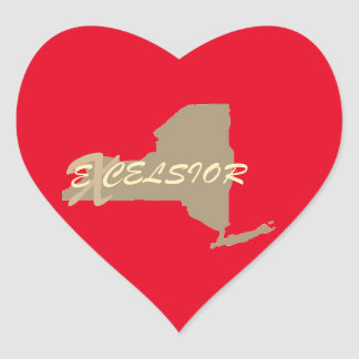 New York excelsior Heart Sticker