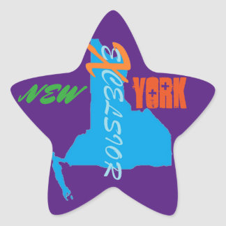 New York eXcelsior Star Stickers