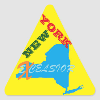 New York excelsior Triangle Sticker