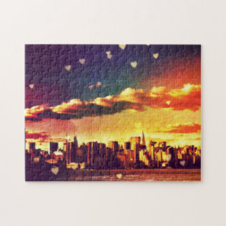 New York Fairy Tale - Skyline Hearts Jigsaw Puzzle