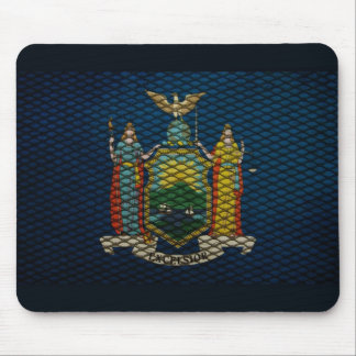 New York Flag expanded metal Mouse Pad