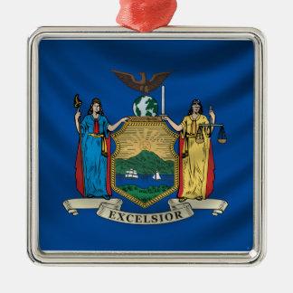 New York Flag Metal Ornament