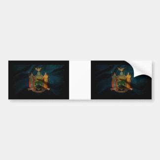 New York Flag Silk Bumper Sticker