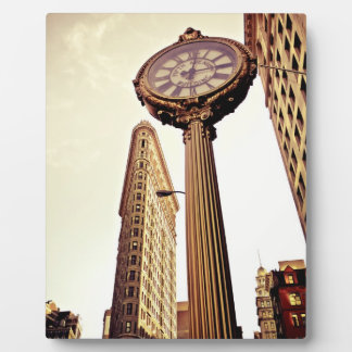 New York - Flatiron Building and Clock Display Plaque