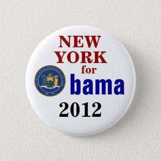 New York for Obama 6 Cm Round Badge