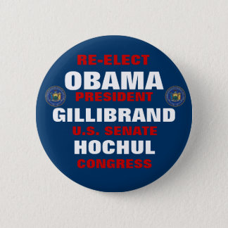 New York for Obama Gillibrand Hochul 6 Cm Round Badge