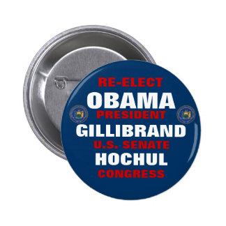 New York for Obama Gillibrand Hochul 6 Cm Round Badge