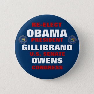 New York for Obama Gillibrand Owens 6 Cm Round Badge