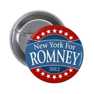 New York for Romney 6 Cm Round Badge