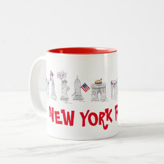 New York Fourth NYC 4th of July Patriotic USA Mug