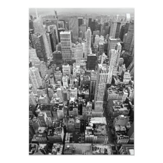 New York from Above 13 Cm X 18 Cm Invitation Card