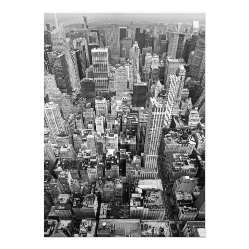 New York from Above Personalized Invitation
