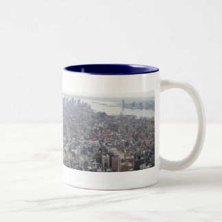 New York from the Empire State Building Two-Tone Mug