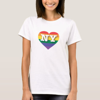 New York Gay Pride Rainbow Heart - Big Love T-Shirt