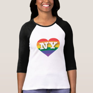New York Gay Pride Rainbow Heart - Big Love T-Shirt