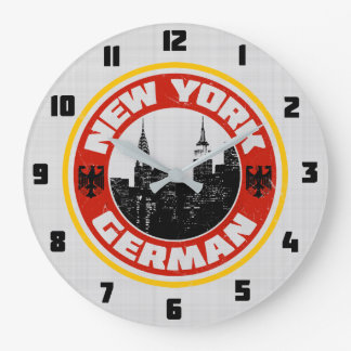 New York German American Wall Clock
