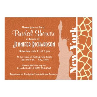 New York; Giraffe; Animal Print 13 Cm X 18 Cm Invitation Card