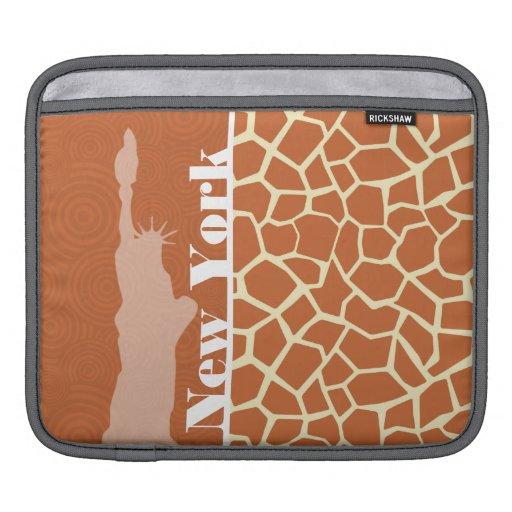 New York; Giraffe; Animal Print iPad Sleeves