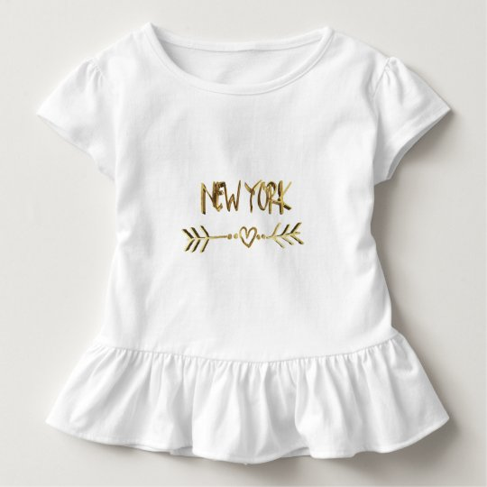 New York Gold Look Typography USA City Elegant Toddler T-Shirt