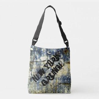 New York Grunge Designer Sling Bag - School Bag Tote Bag