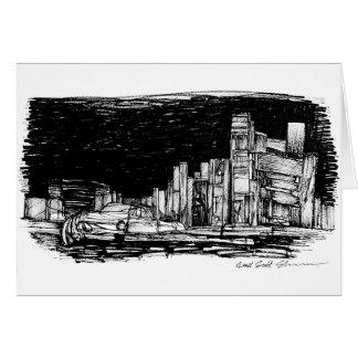 New York. Hand Drawn by Russell Scott-Skinner Card