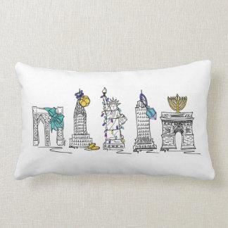 New York Hanukkah Chanukah NYC Landmarks Pillow
