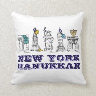 New York Hanukkah NYC Landmarks Chanukah Pillow