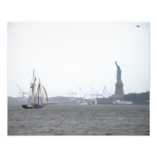 New York Harbor in Fog Art Photo