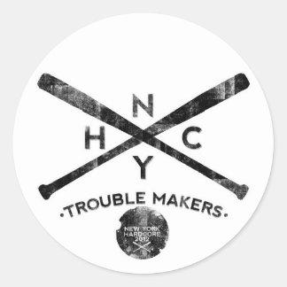New York hardcore Classic Round Sticker
