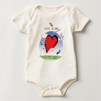 New York Head and Heart, tony fernandes Baby Bodysuit