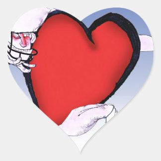New York Head and Heart, tony fernandes Heart Sticker