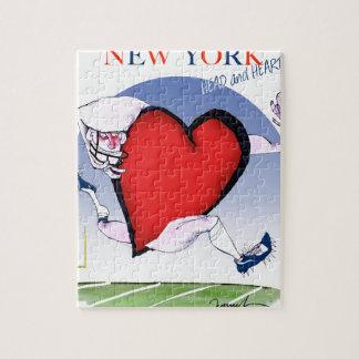 New York Head and Heart, tony fernandes Jigsaw Puzzle