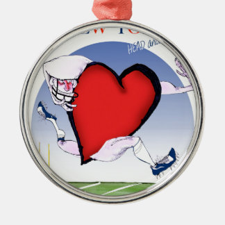 New York Head and Heart, tony fernandes Metal Ornament