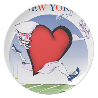 New York Head and Heart, tony fernandes Plate