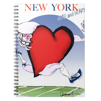 New York Head and Heart, tony fernandes Spiral Notebook