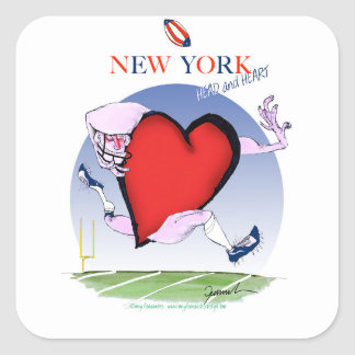 New York Head and Heart, tony fernandes Square Sticker