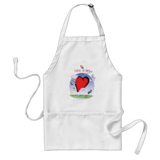 New York Head and Heart, tony fernandes Standard Apron