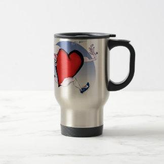 New York Head and Heart, tony fernandes Travel Mug