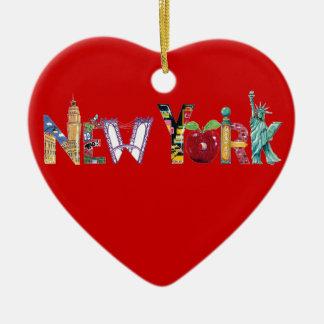 New York Heart Ornament