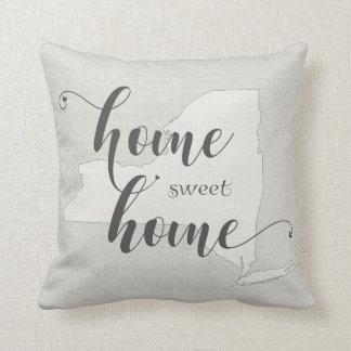 New York - Home Sweet Home burlap-look Cushion
