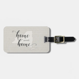 New York - Home Sweet Home burlap-look Luggage Tag