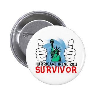 New York Hurricane Irene 2011 Survivor Button