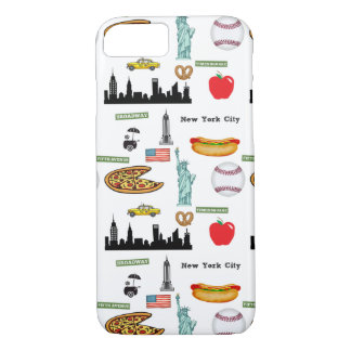 New York Icons Pattern by Orchard Three iPhone 7 Case
