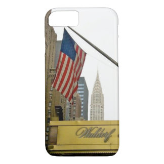 New York icons - Waldorf and Chrysler Building iPhone 7 Case