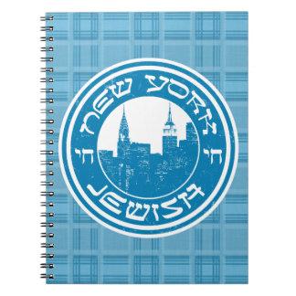New York Jewish Notepad Note Books