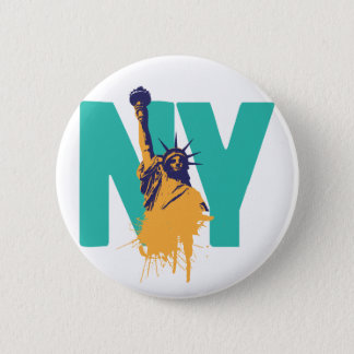 New York Lady Liberty 6 Cm Round Badge
