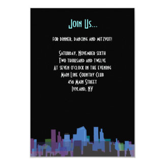 New York Lady Liberty Bar Bat Mitzvah Party Card 9 Cm X 13 Cm Invitation Card