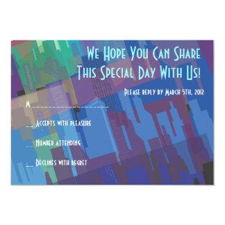 New York Lady Liberty Bar Bat Mitzvah Reply Card 13 Cm X 18 Cm Invitation Card