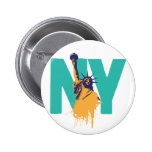 New York Lady Liberty Pinback Buttons